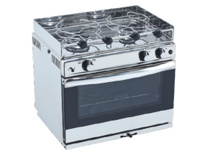 grilled oven + gaz